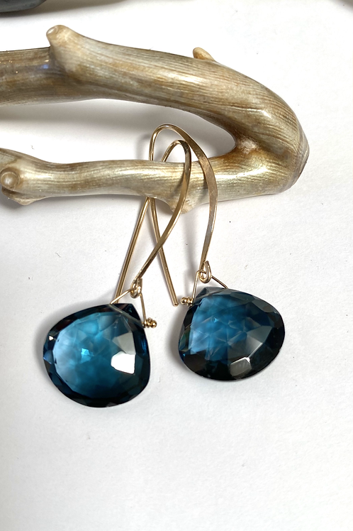 London Blue Quartz Earrings