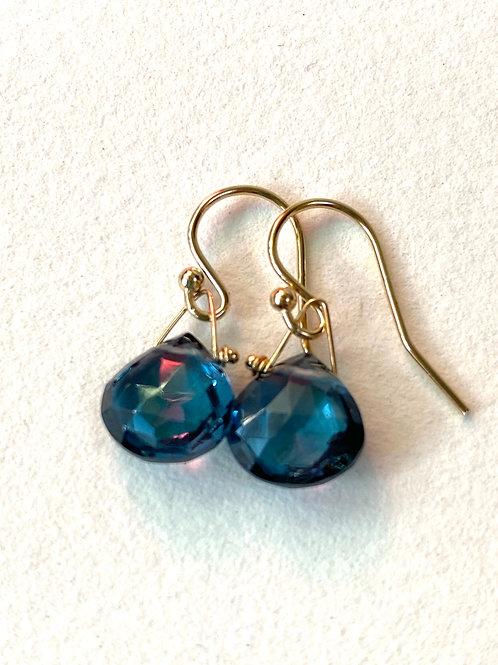 Mini Blue Quartz Earrings