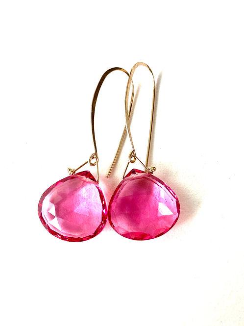 Michelle Pink Quartz Earrings