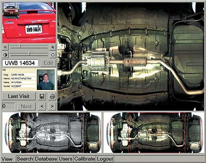 UVSS monitoring vehicles under fuselage, Xpertech