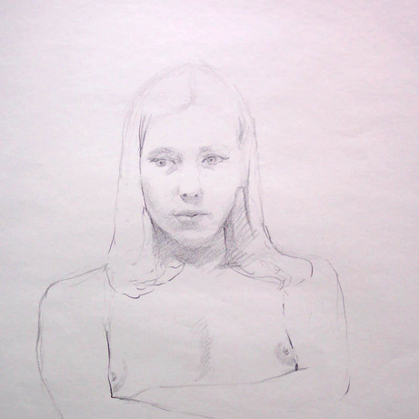 Study of Judy, 2001, graphite on bristol, 18x15 in.