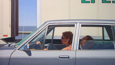 Just for Two of Us, 2000, oil on linen, 28x42 in.