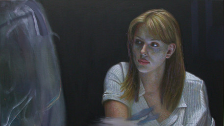 Perceiving Existence, 2004, oil on linen, 19.5x33,5 in.