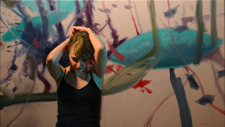 There Is Less to Say, 2010, oil on canvas, 25x44 in. /private collection