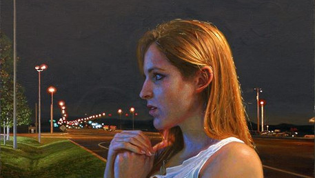 TSOU - Stay Inside Till Somebody Finds Us, 2012, oil on canvas, 28x22 in. /private collection