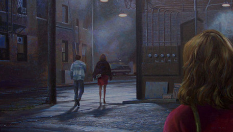 Blue Reminiscence, 2004, oil on linen, 20x35 in. /private collection