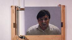 self-portrait with bubble-soap
