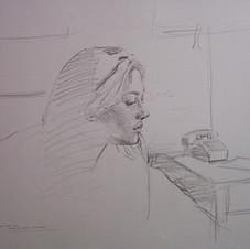Study (Portrait of Kate)