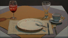 Leftover Wine, 2010, oil on canvas, 18x24 in. /private collection