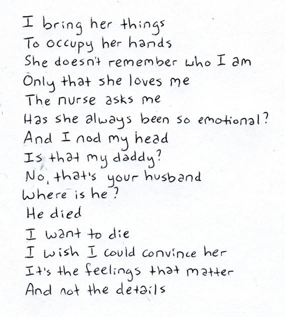 Feelings not Details