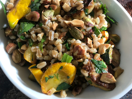 Caramelized Squash with Fresh Herbs and Farro