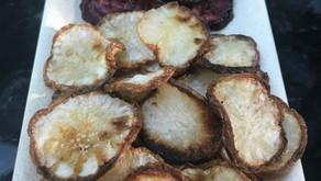 Roasted Turnip Chips With Truffle Salt