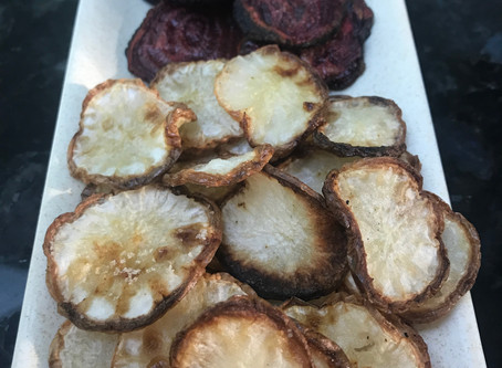 Roasted Turnip Chips With Truffle Salt