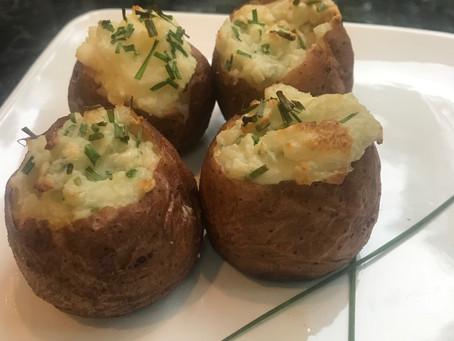 Mini Cheesy Double-Baked Potatoes