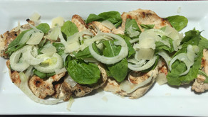 Grilled Chicken Paillard With Arugula, Fennel, And Parmesan Cheese