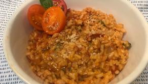 Creamy Fresh Tomato-Basil Risotto