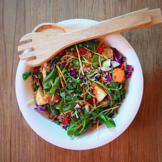 Recipe: Roasted root veg, lentil & brown rice salad