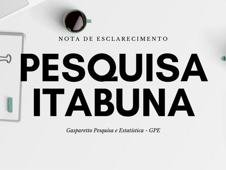 Nota de Esclarecimento - Pesquisa em Itabuna