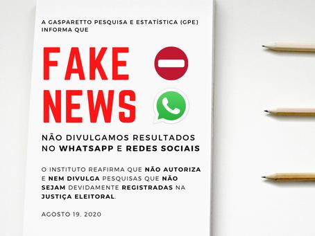 FAKE NEWS - Divulgação falsa