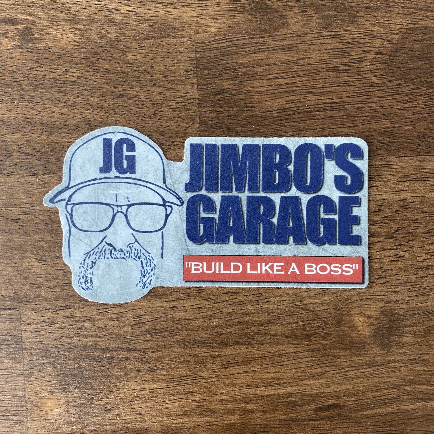 3X5 JIMBO'S GARAGE STICKER