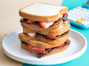 Strawberry and Chocolate-Almond Butter Sandwiches