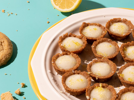 Mini Lemon Tarts With Snickerdoodle Cookie Crust