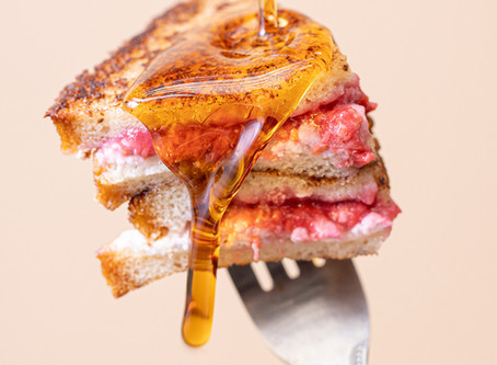 Vegan Raspberry-Stuffed French Toast