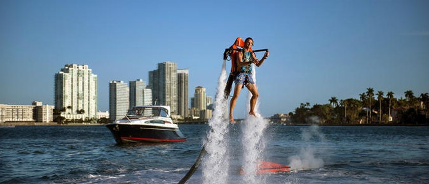 Sport Boat Transportation To An Island And 25 min Jetpack Session