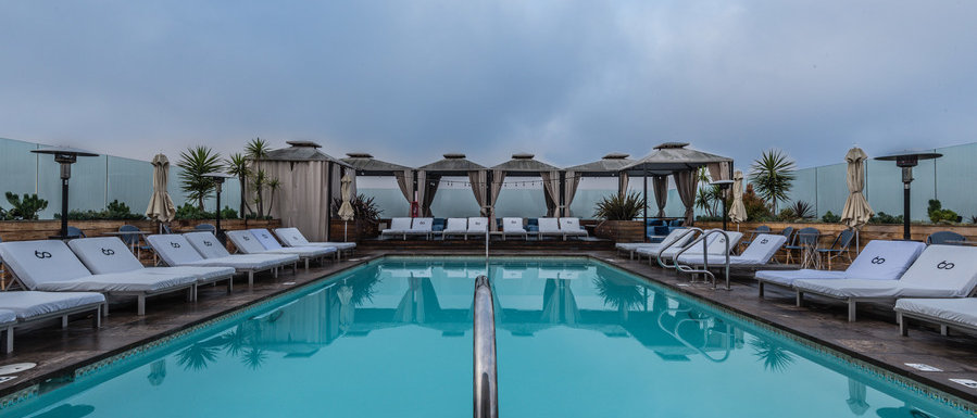 Private Rooftop Pool Cocktail Reception At Beverly Hills