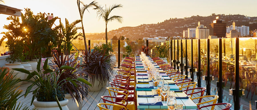 Private Rooftop Reception At Hollywood