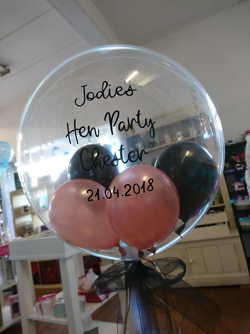 "20"" Personalised Bubble Balloon - Balloons inside: Choose Your Own"