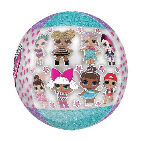 LOL Dolls Balloon Orbz 4 Sided Helium Semi-clear
