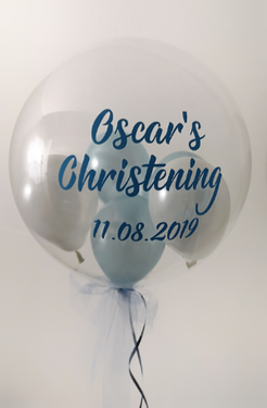 christening balloon personalised bubble.