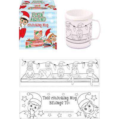 Colour your own Elf mug - Kids Christmas Activity