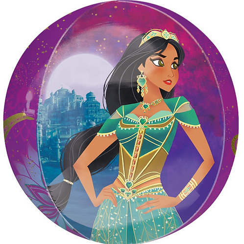 Disney's Aladdin Princess Jasmine Balloon 4 Sided Helium Orbz Balloon