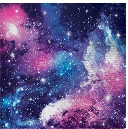 Galaxy Space Party Napkins - 25cm 2ply paper