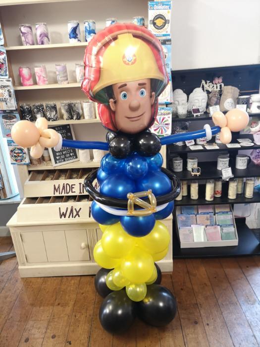Fireman sam balloon character sculpture