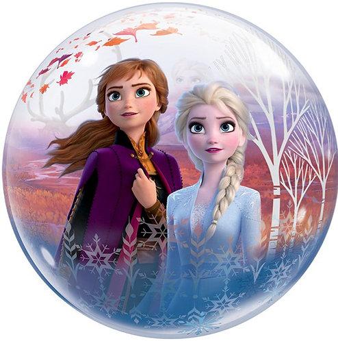 """Frozen 2 Bubble Balloon Helium Filled 2 Sided - Anna, Elso, Olaf & More 22"""""""