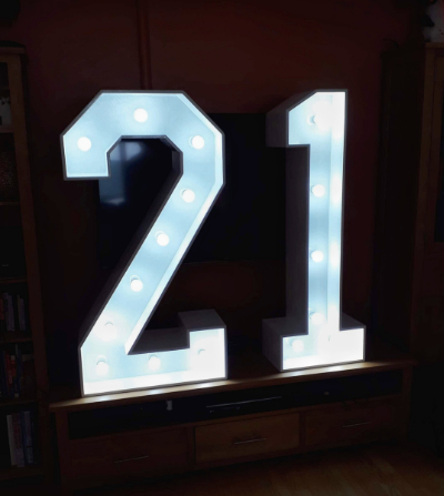 light up number 21