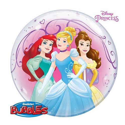 Disney Princess Bubble Helium Balloon - Cinderella, Belle, Ariel, Tiana & more