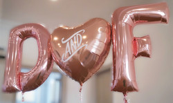 giant letters and personalised heart ros