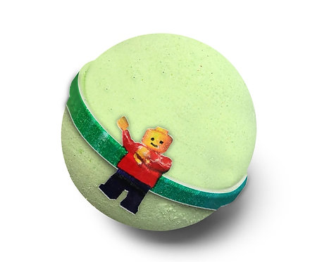 Block people bath bomb with toy inside