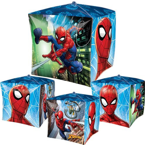 Spiderman Balloon 4 sided Cubez Balloon Spider man