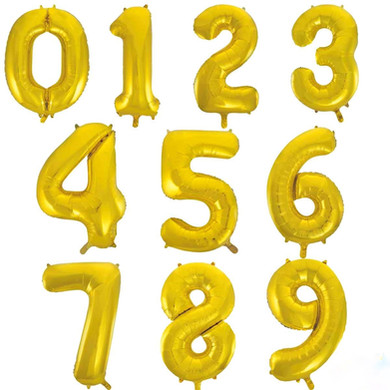 gold balloon number giant numbers 34 inc
