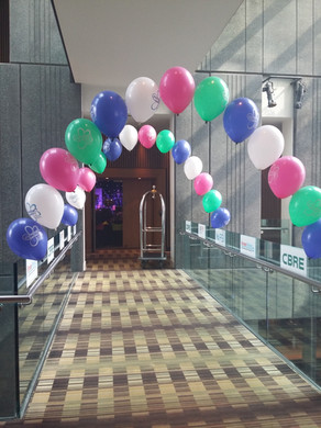 pearl arch balloons corporate event manc