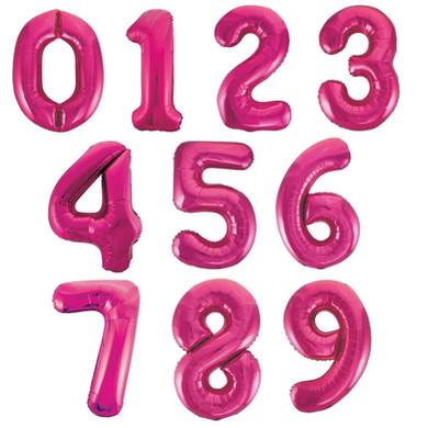 hot pink balloon number giant numbers 34