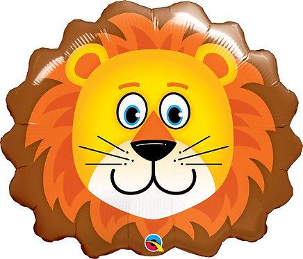 "Lion head Jungle Animal Supershape Helium Foil Balloon 29"""