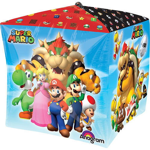 Nintendo Super Mario Balloon Gaming Cube 4 Sided Cubez Balloon