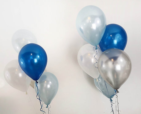 Plain Colour Latex Balloon Bunches Clusters