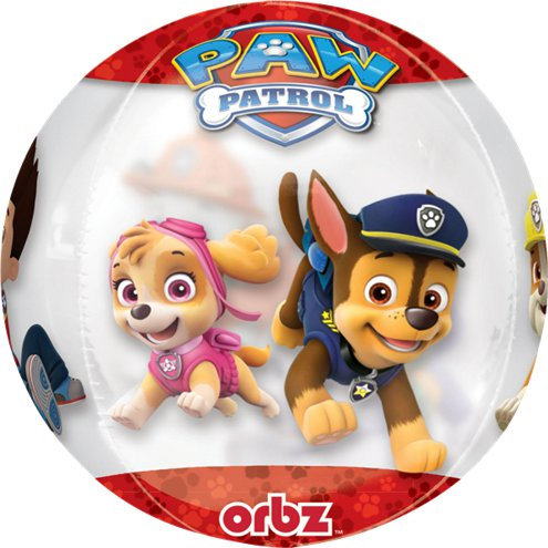 Paw Patrol Orbz Balloon - Chase, Skye, Marshall, Rubble + more Orbz Balloon